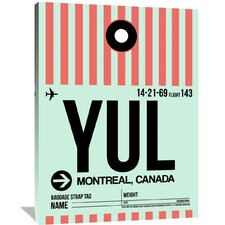YUL Montreal Luggage Tag 2 Painting Print on Wrapped Canvas