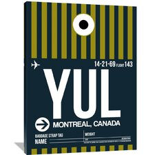 YUL Montreal Luggage Tag 1 Painting Print on Wrapped Canvas