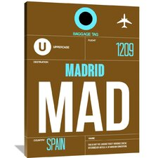 MAD Madrid Luggage Tag 1 Painting Print on Wrapped Canvas