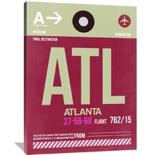 ATL Atlanta Luggage Tag 2 Painting Print on Wrapped Canvas