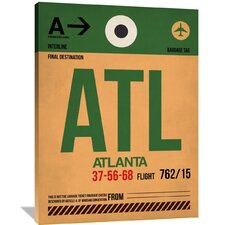 ATL Atlanta Luggage Tag 1 Painting Print on Wrapped Canvas