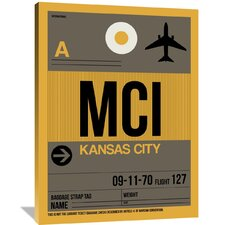 MCI Kansas City Luggage Tag 1 Painting Print on Wrapped Canvas