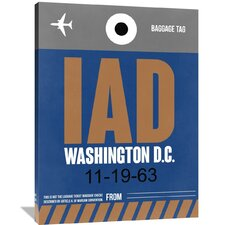 IAD Washington Luggage Tag 2 Painting Print on Wrapped Canvas