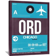 ORD Chicago Luggage Tag 1 Painting Print on Wrapped Canvas