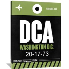 DCA Washington Luggage Tag 2 Painting Print on Wrapped Canvas