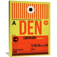 DEN Denver Luggage Tag 1 Painting Print on Wrapped Canvas