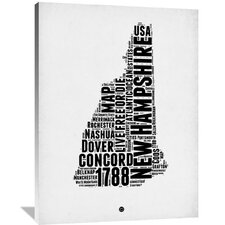 New Hampshire Word Cloud 2 Textual Art on Wrapped Canvas