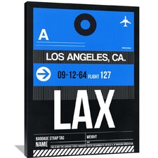 LAX Los Angeles Luggage Tag 3 Painting Print on Wrapped Canvas