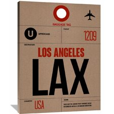 LAX Los Angeles Luggage Tag 1 Painting Print on Wrapped Canvas