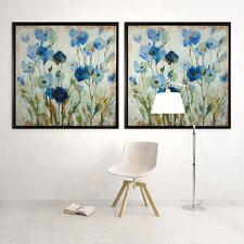 Abstracted Floral Framed Painting Print on Wrapped Canvas