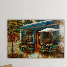 Anna's Corner Flower Shop by Nan F Painting Print on Wrapped Canvas