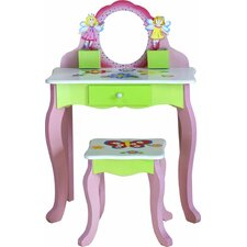 Adorable Kid's 2 Piece Rectangle Table and Chair Set