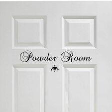 Powder Room Door Lettering Wall Decal