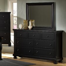Reflections 7 Drawer Triple Dresser with Mirror