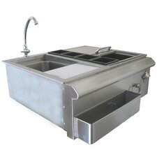 Built in Accessory Bar Center with Sink