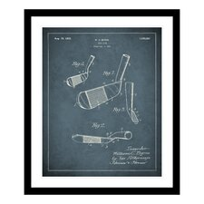 1925 Golf Iron Patent Framed Photographic Print