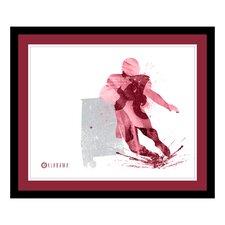 NCAA Silhouette Framed Graphic Art
