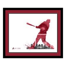 MLB Silhouette Framed Graphic Art