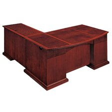 Del Mar L-Shape Bow Front Executive Desk with Right Return