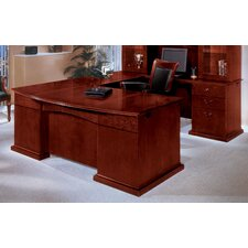 Del Mar U-Shape Bow Front Executive Desk with Right Return