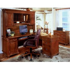 Antigua 4-Piece L-Shape Desk Office Suite