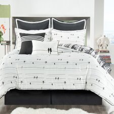 Woodland Comforter Set in Black & White
