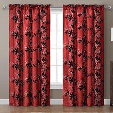 Barclay Flocked Single Curtain Panel