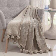 Montego Pom Pom Soft Throw Blanket