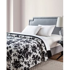 Floral Giverny Printed Sherpa Reversible Blanket