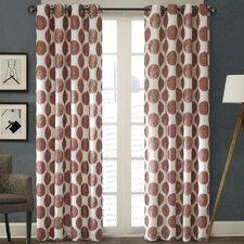 Printed Dot Single Curtain Panel