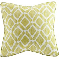 Delray Diamond Printed Throw Pillow (Set of 2)