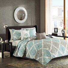 Claire 6 Piece Quilted Coverlet Set