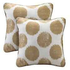 Maru Printed Dot Square Throw Pillow (Set of 2)