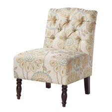 Madison Park Lola Tufted Slipper Chair