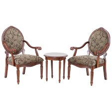 Brentwood 3 Piece Arm Chair Set