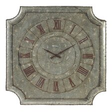 Square Tin Metal Wall Clock