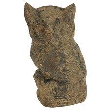 Weathered Terra Cotta Owl Figurine