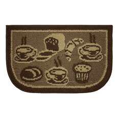 Textured Loop French Bread Wedge Slice Kitchen Area Rug