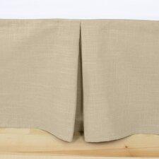Jefferson Driftwood Linen Pleated Bed Skirt