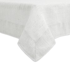 Burlap Mitered Border Hemmed Tablecloth