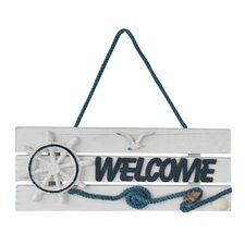 Hand Painted Nautical Welcome Sign Wall Décor