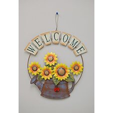Spring Flower Bouquet Watering Wall Décor