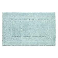 Double Border Plush Micropolyester Textured Bath Mat
