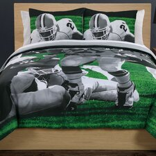 Photoreal Football Running Back Cotton Comforter