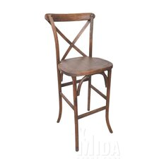 Forest Cross Back Weathered Style Barstool
