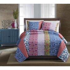 Newberry Stripe Quilt Set in Multi Colored