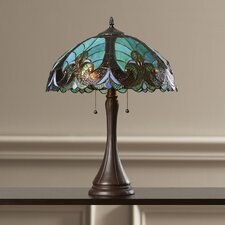 "21.3"" H Table Lamp with Bowl Shade"