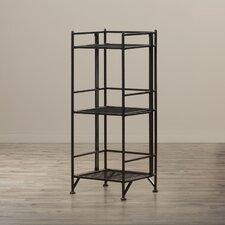 "3 Tier Folding Metal Shelf 32.63"" Accent Shelves"
