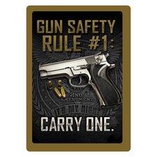 Gun Safety #1 Tin Sign Wall Décor