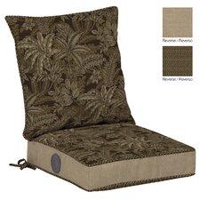 Palmetto Reversible Dining Chair Cushion